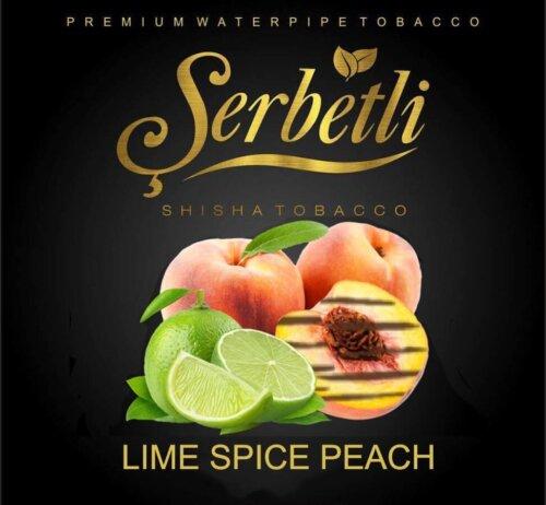 Табак Serbetli Lime spice peach - лайм пряный персик 50 грамм