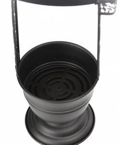 Корзина для угля – Черная матовая (средняя)