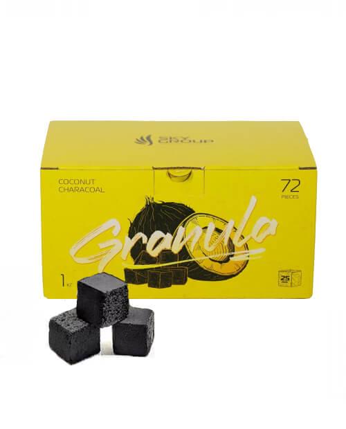 Кокосовый уголь для кальяна Granula (Гранула) 72