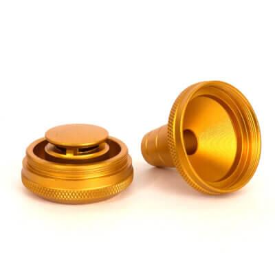 Мелассоуловитель для кальяна золотой