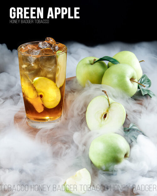 Табак Honey Badger green apple - зеленое яблоко
