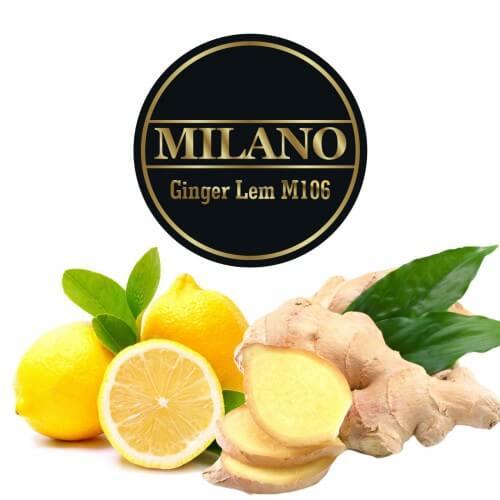 Табак Milano Ginger lem M106 - Лимон с имбирем