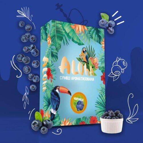 Безникотиновая смесь Aloha Черника 100 грамм