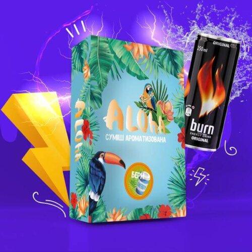 Безникотиновая смесь Aloha Берн 100 грамм