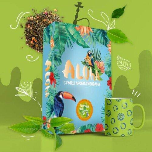 Безникотиновая смесь Aloha Зеленый чай 100 грамм