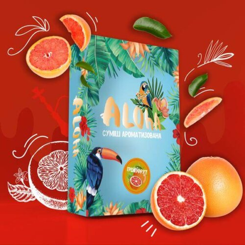 Безникотиновая смесь Aloha Грейпфрут 100 грамм