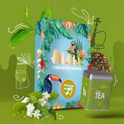 Безникотиновая смесь Aloha Жасминовый чай 100 грамм