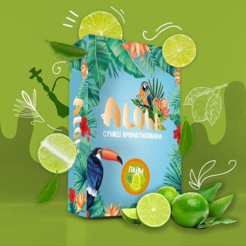 Безникотиновая смесь Aloha Лайм 100 грамм