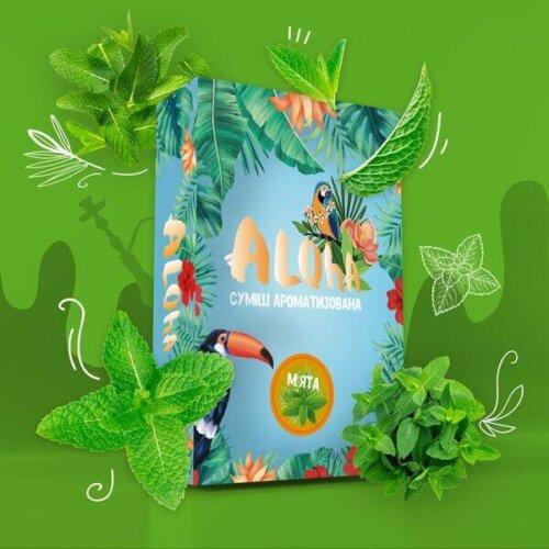 Безникотиновая смесь Aloha Мята 100 грамм