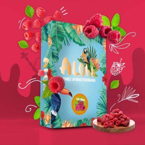Безникотиновая смесь Aloha Малина 100 грамм