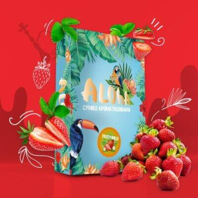 Безникотиновая смесь Aloha Клубника 100 грамм