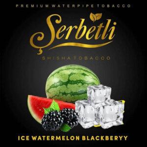 Табак Serbetli Ice watermelon blackberry (Айс арбуз ежевика) 50 грамм