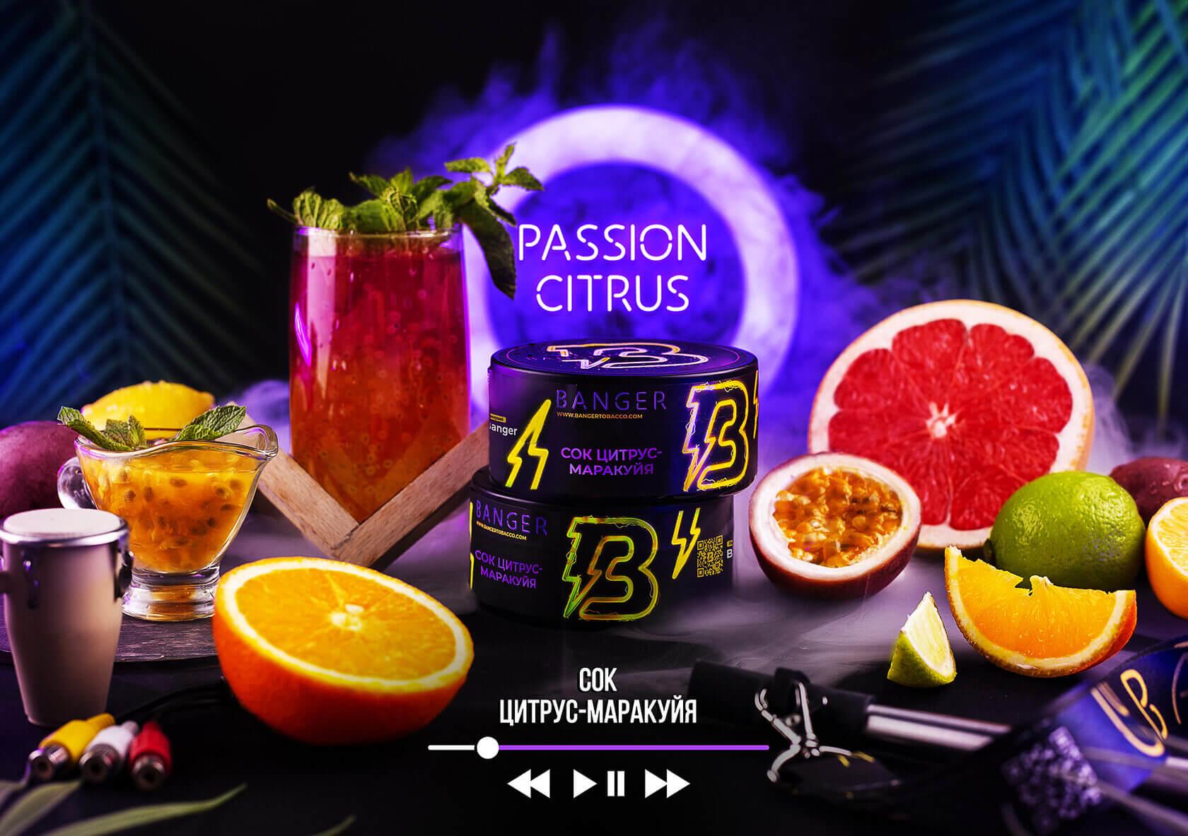 Табак Banger Passion citrus (Сок цитрус-маракуйя)