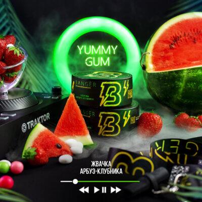Табак Banger Yummy Gum (Жвачка Арбуз Клубника)